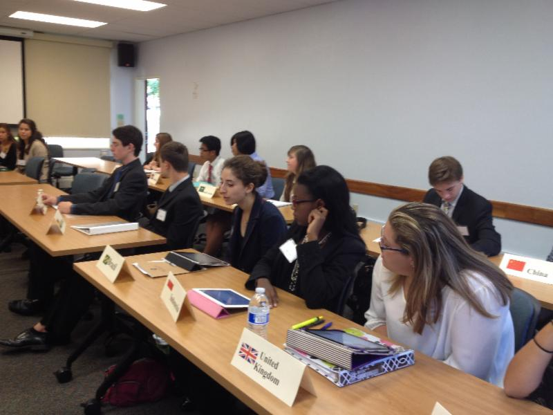Students address global trafficking issues.