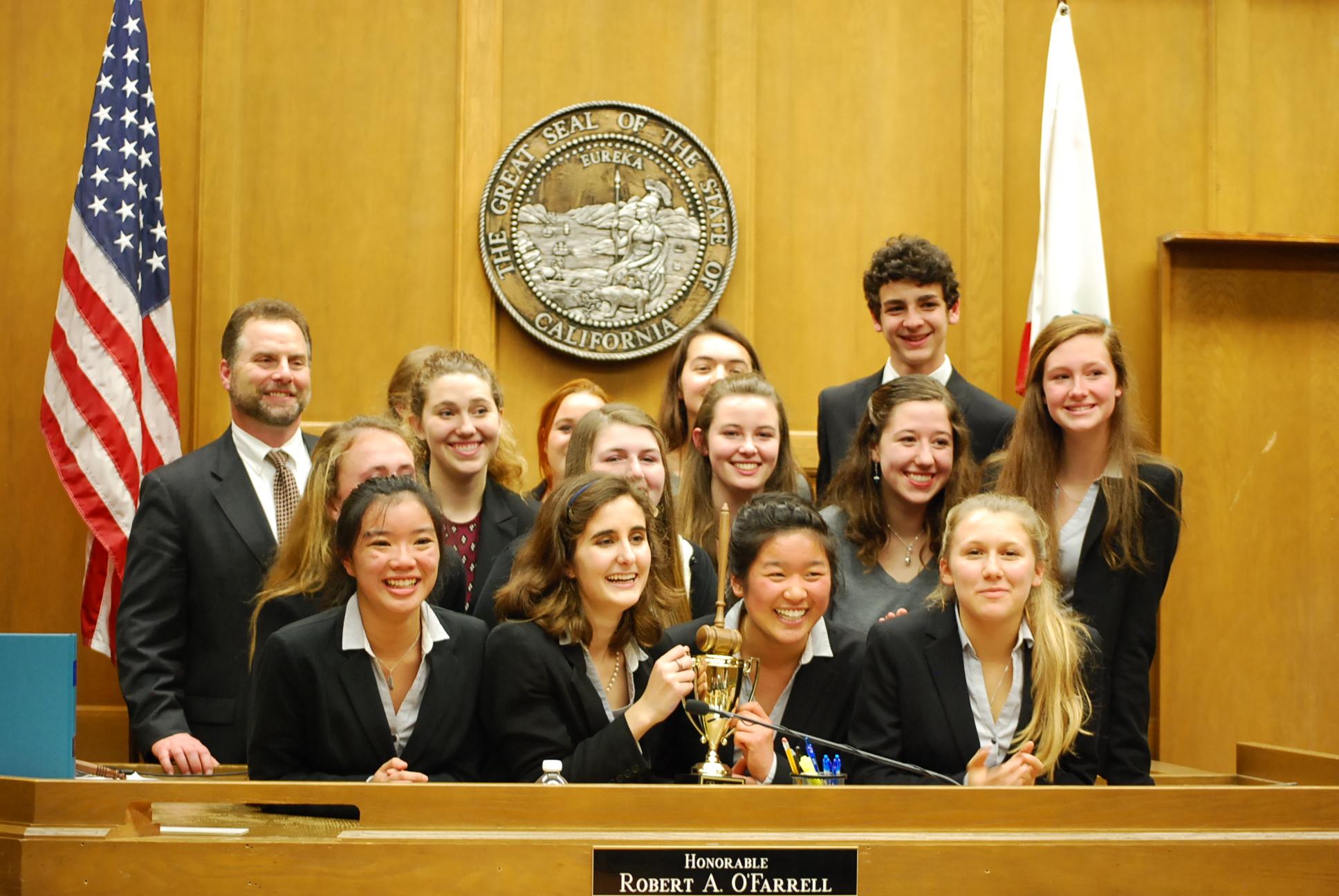 Carmel High Mock Trial Team - 2015 County Winners