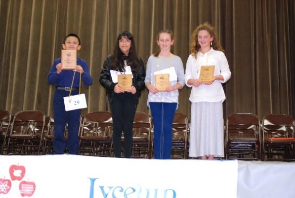 Spelling Bee 2015 - Winners