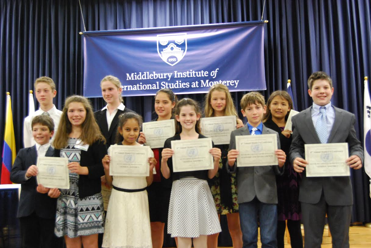 This year's Middle School Model United Nations award winners.