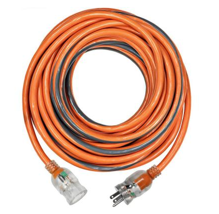 100 ft. 10/3 SJTW Extension Cord with Lighted Plug