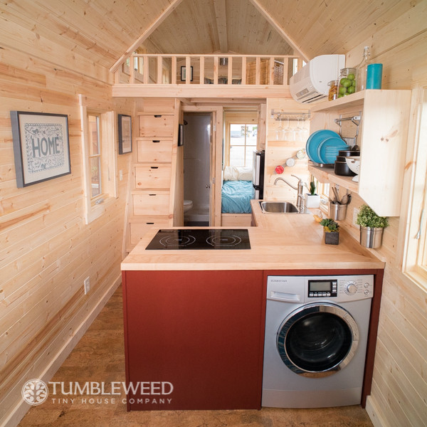"""Top Laundry Units for Tiny Homes"" (Photograph by Tumbleweed Tiny House Company)"