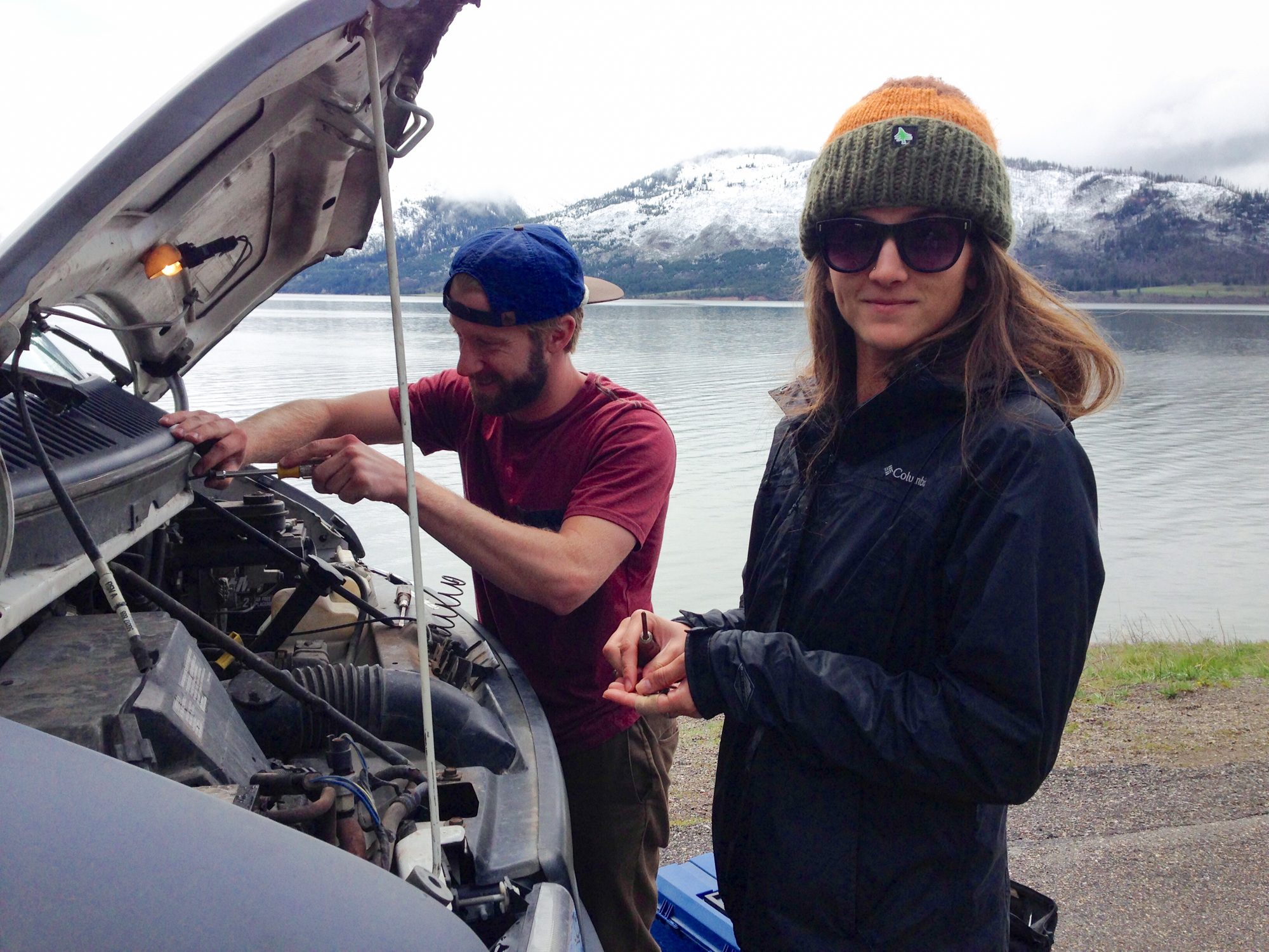 Living out of a vehicle and traveling full time means we are bound to have some mechanical issues. But somehow when things go wrong we always stay in good spirits. Shay is the perfect roadside assistant!
