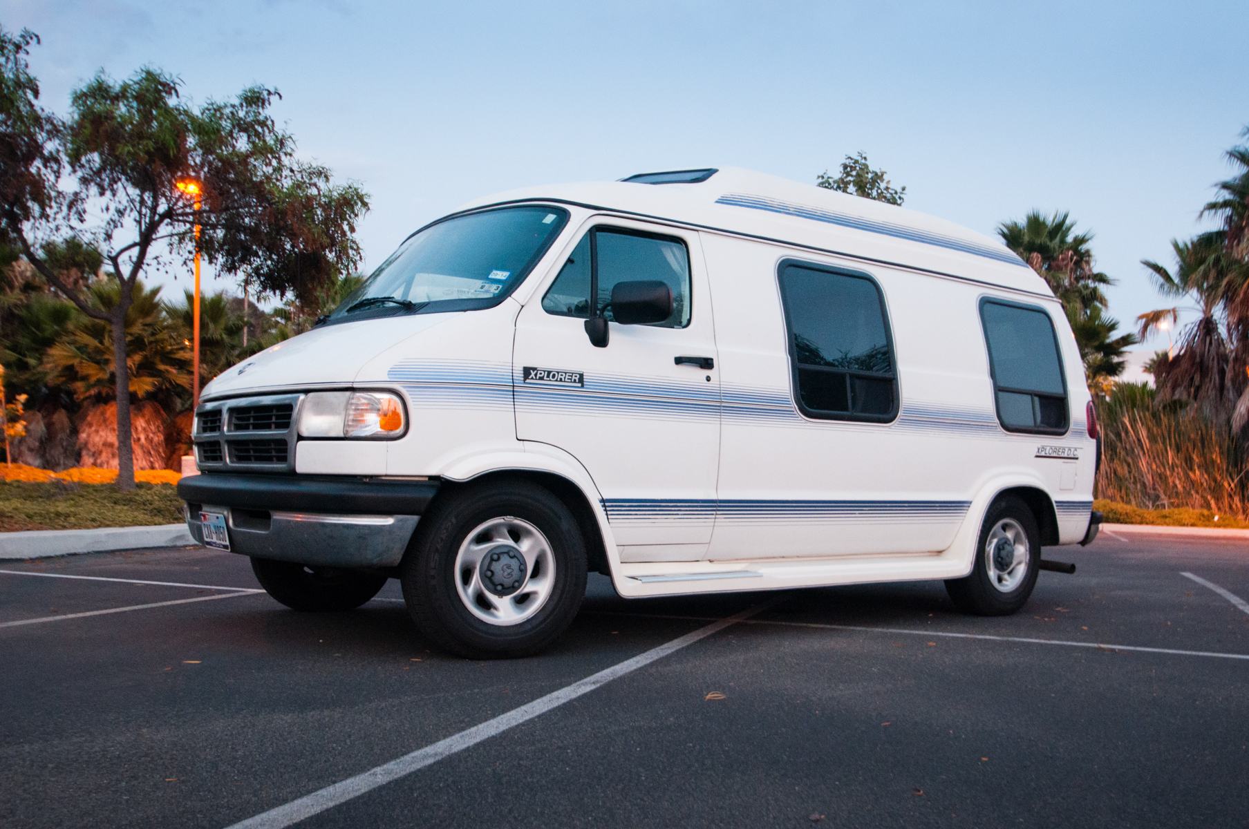The van right after I received it from my grandma and before making any modifications