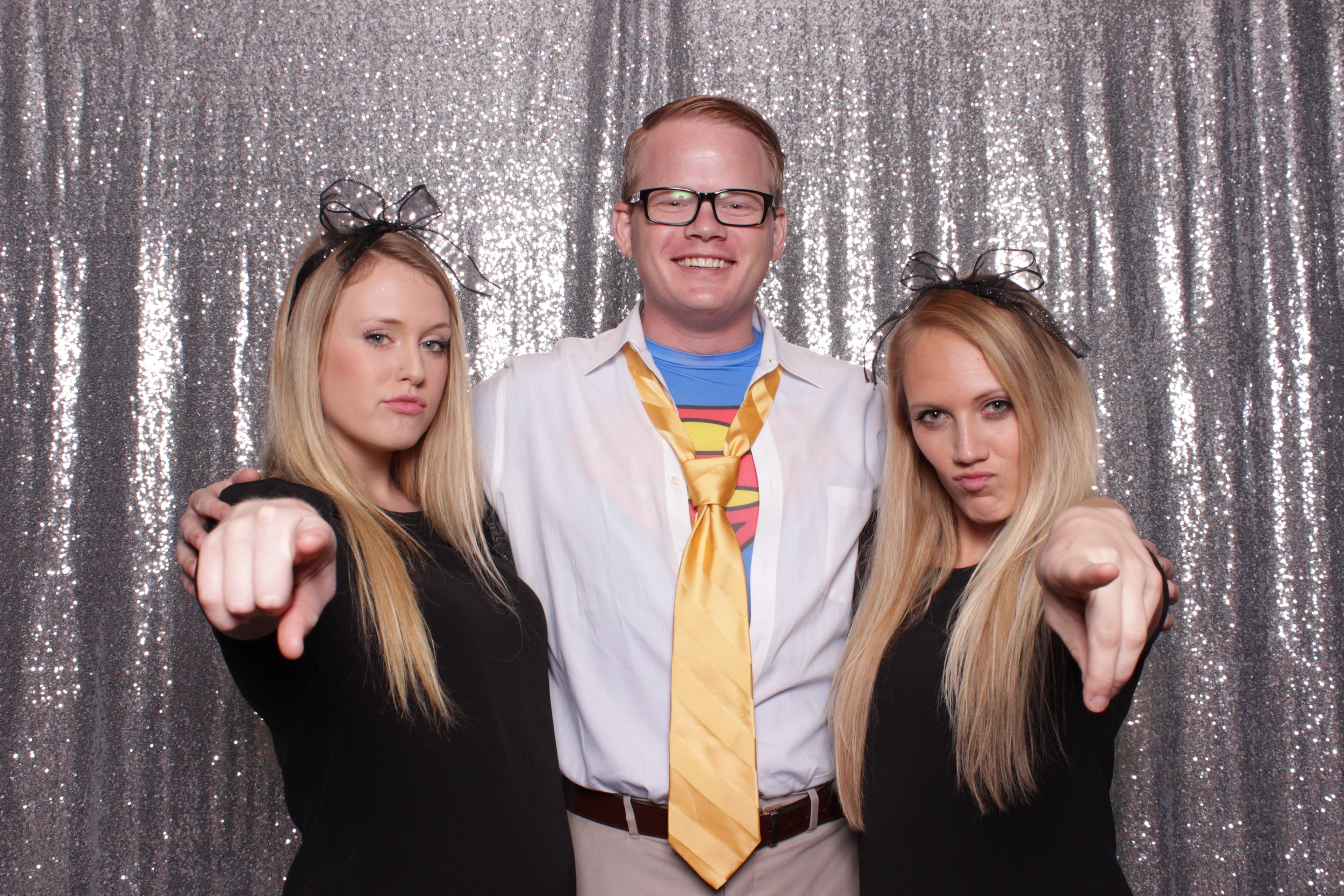 """These two ladies were the """"emoji dancing ladies"""", with Clark Kent in the middle of course!"""