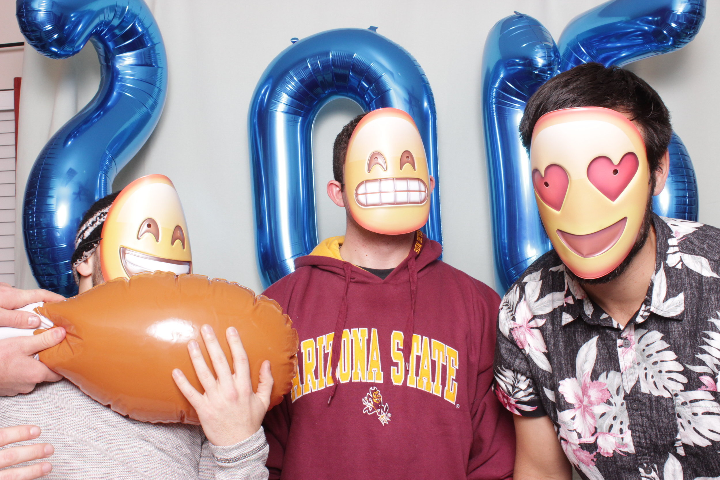 People always love the emoticon masks!