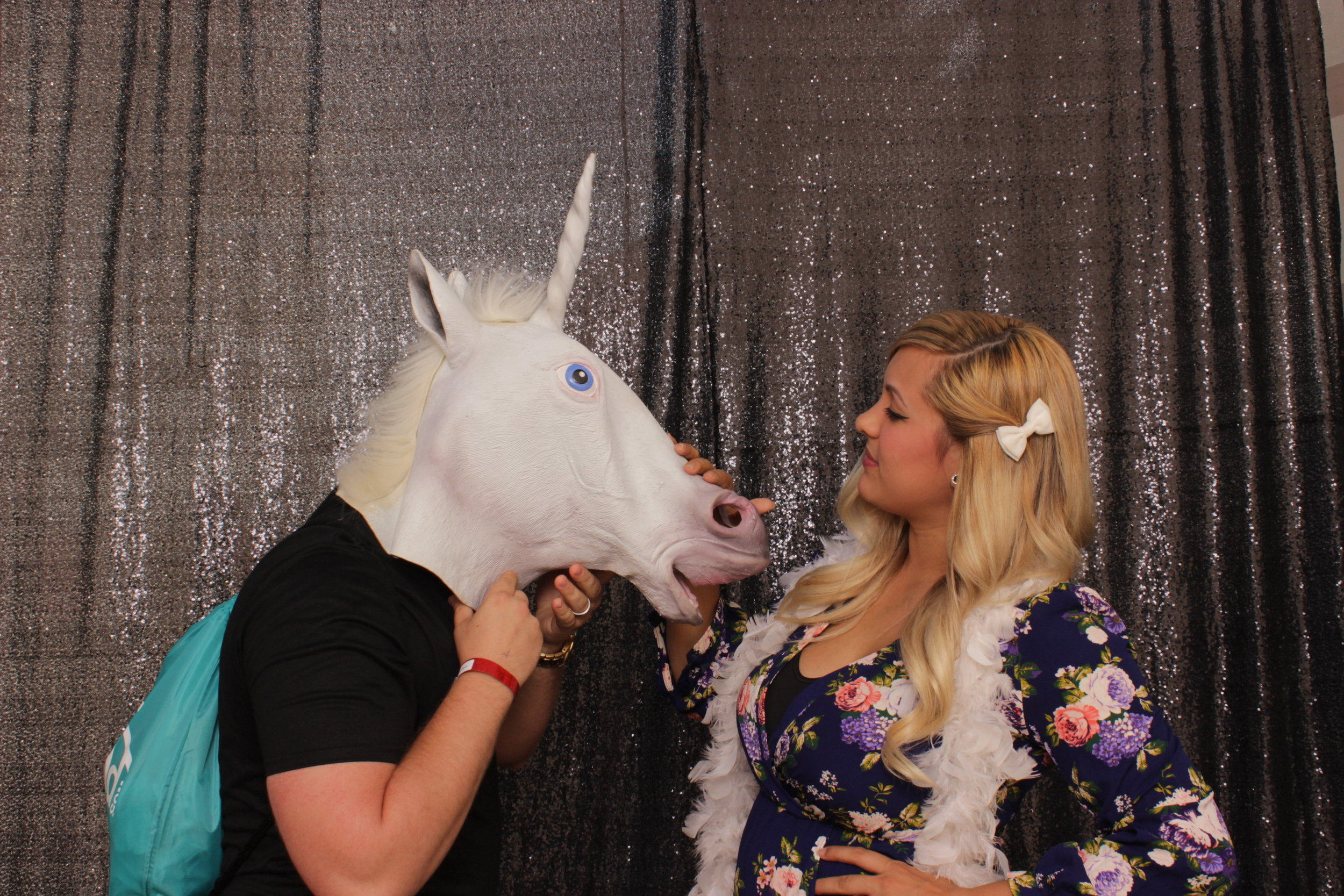 build-corporate-party-photo-booth-rental-unicorn-mask