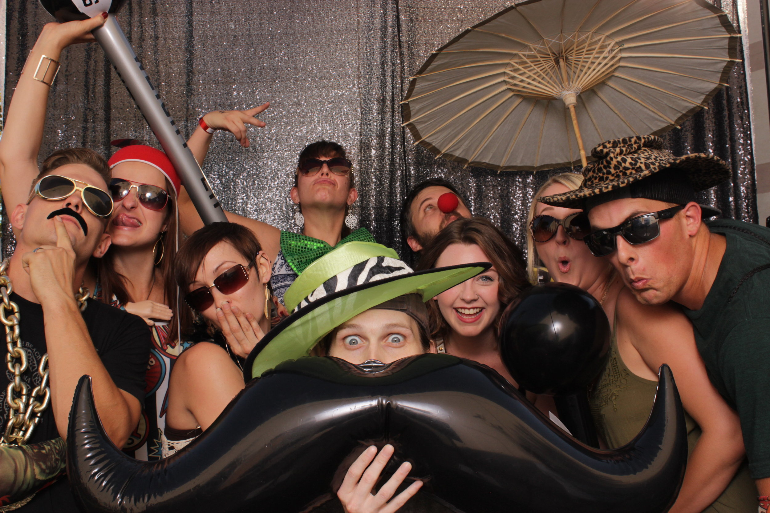 build-corporate-party-photo-booth-rental-umbrella-party