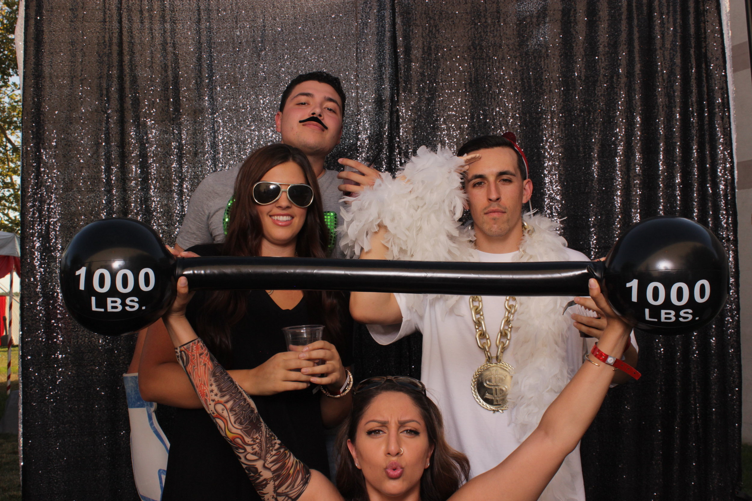 build-corporate-party-photo-booth-rental-weight-lifter