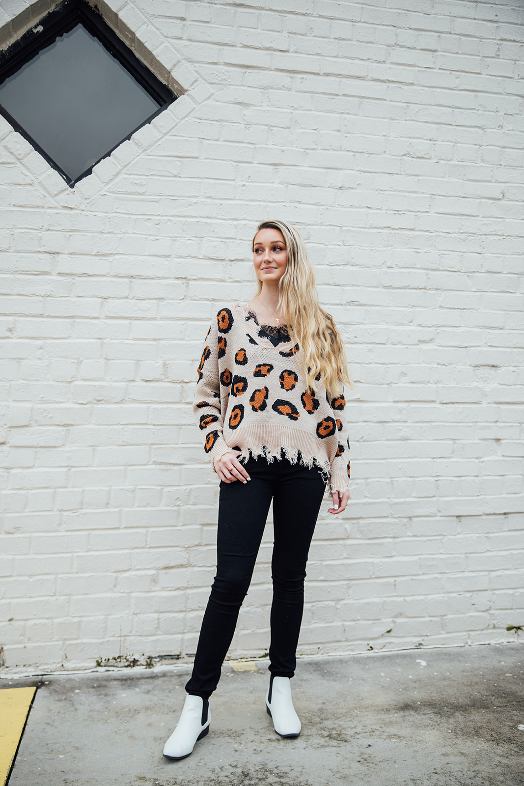 We asked Kaetlyn (behind the counter) to put together her favorite outfit at PJ RIGHT NOW on a whim… - You can pick up this entire look at Persnickety Jane today!