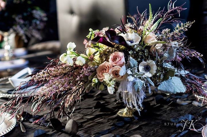 Photo by Studio JK Photography, Table Concept Design and Floral by Pro Chic Events, Tableware by AllWell Rents
