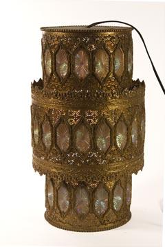 Hanging Jeweled Lamp