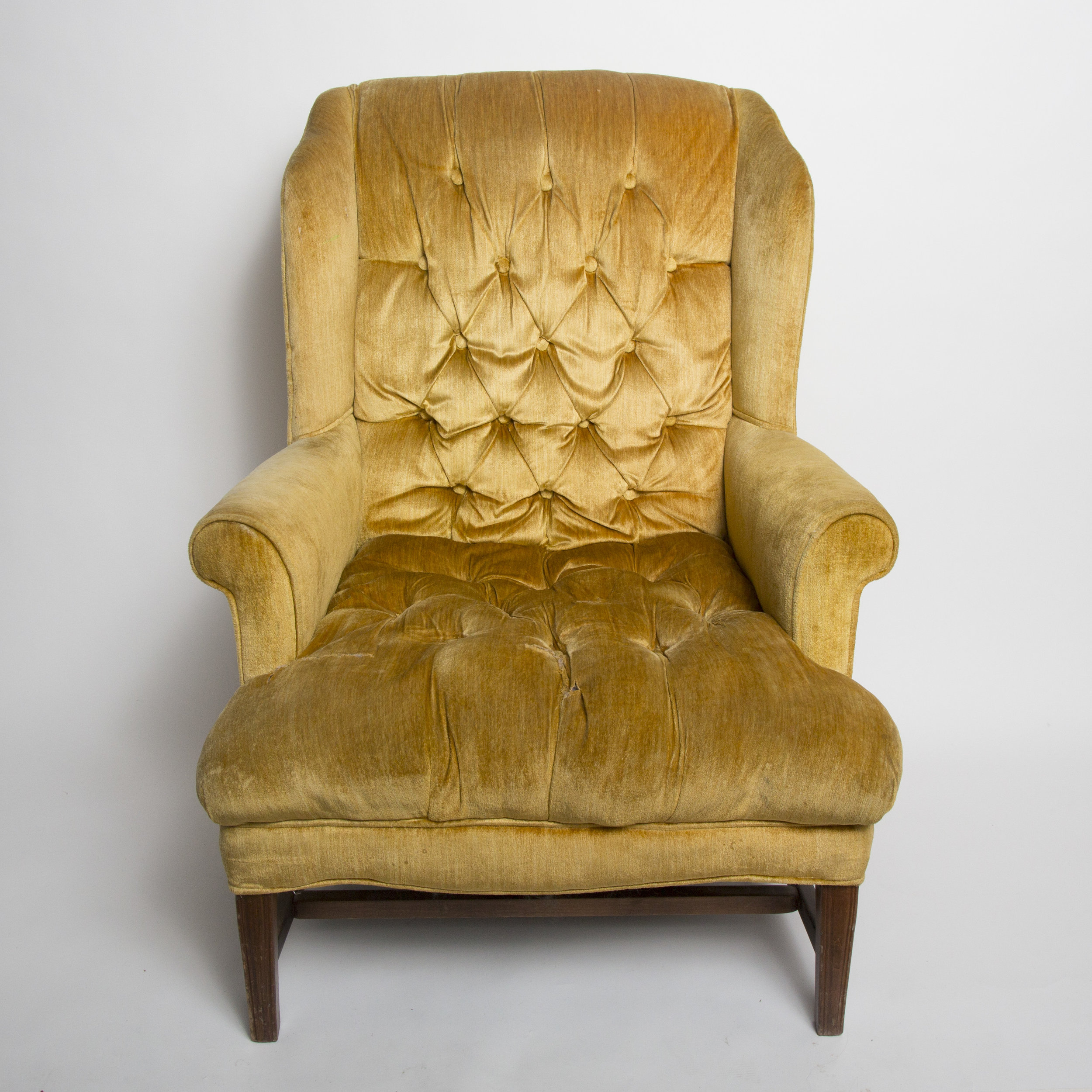 Gold Velvet Easy Chair