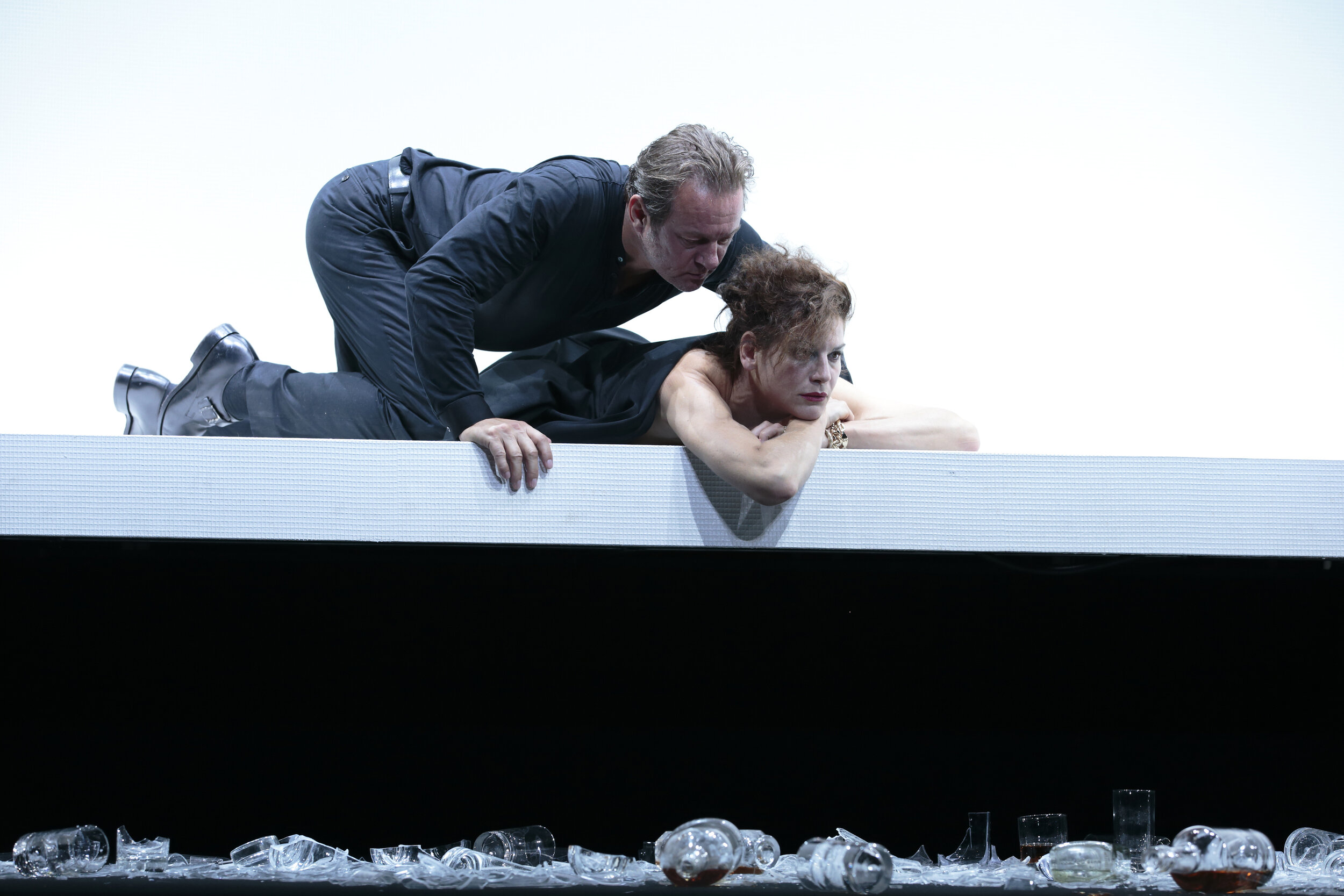Neue Burg-Virtuosen: Norman Hacker und Bibiana Beglau © Andreas Pohlmann/Burgtheater