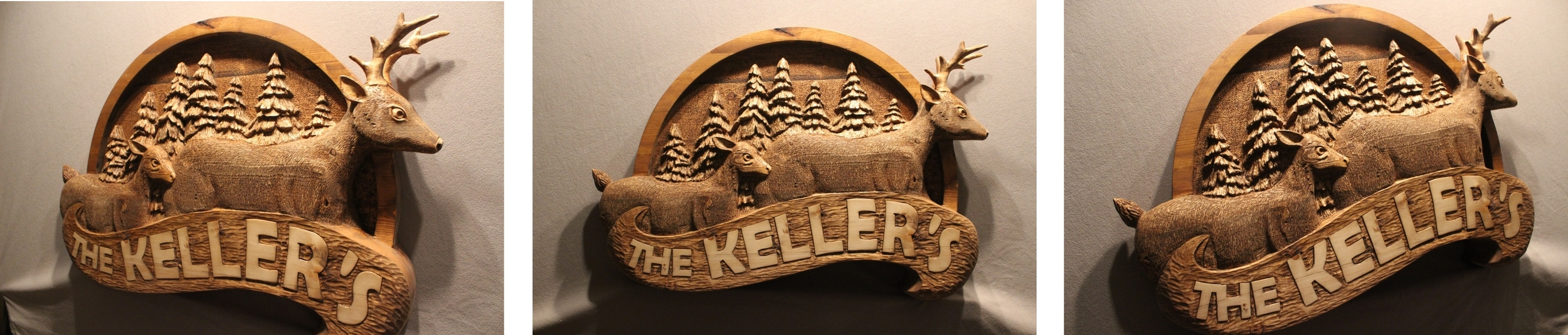 """A Custom Wood Sign for the Keller Familiy in Pennsylvania. This sign measures approx 36"""" wide. By Lazy River Studio"""