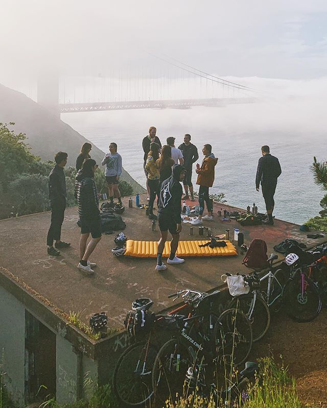 Tomorrow morning we reconvene once again for a ritualistic aura-cleansing sound bath and naturally-occurring breathwork exercises. . Join us! We have been waiting for you. . 645 at Golden Gate Bridge Plaza 7-8(ish) at Battery Wagner . Bring water and a cup for some delicious @latigocoffee, stove and brewer if you have them, and snacks to share are always welcome!