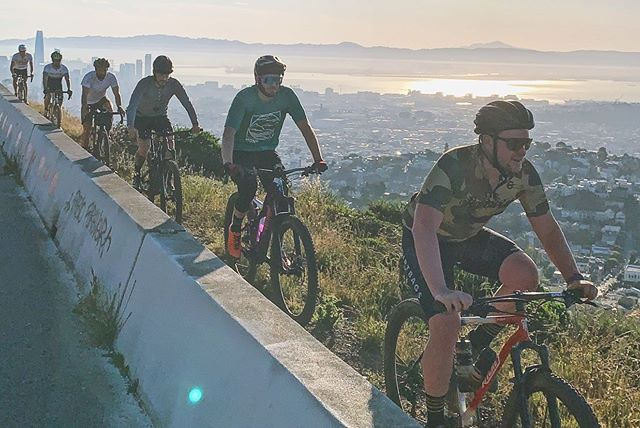 If you're looking for dirt riding within the SF city limits, you owe it to yourself to join @coyotebombsquad on one of their Tuesday morning rides. - Usually meets at 6:45am at Fell/Baker for a varied tour of the finest trails in Golden Gate Park or around Twin Peaks / Sutro. Chill vibes and no-drop means all are welcome, but be ready to put in some effort if you're looking for max fun. Peel off if you've had enough and/or need to jet to work, or stick around and finish at a local cafe for your morning pick-me-up and a pastry. . Okayyyu so reading it over again this is a pretty #basic and unsolicited promo, but whatevs I ride with them almost every week so that's gotta count right??