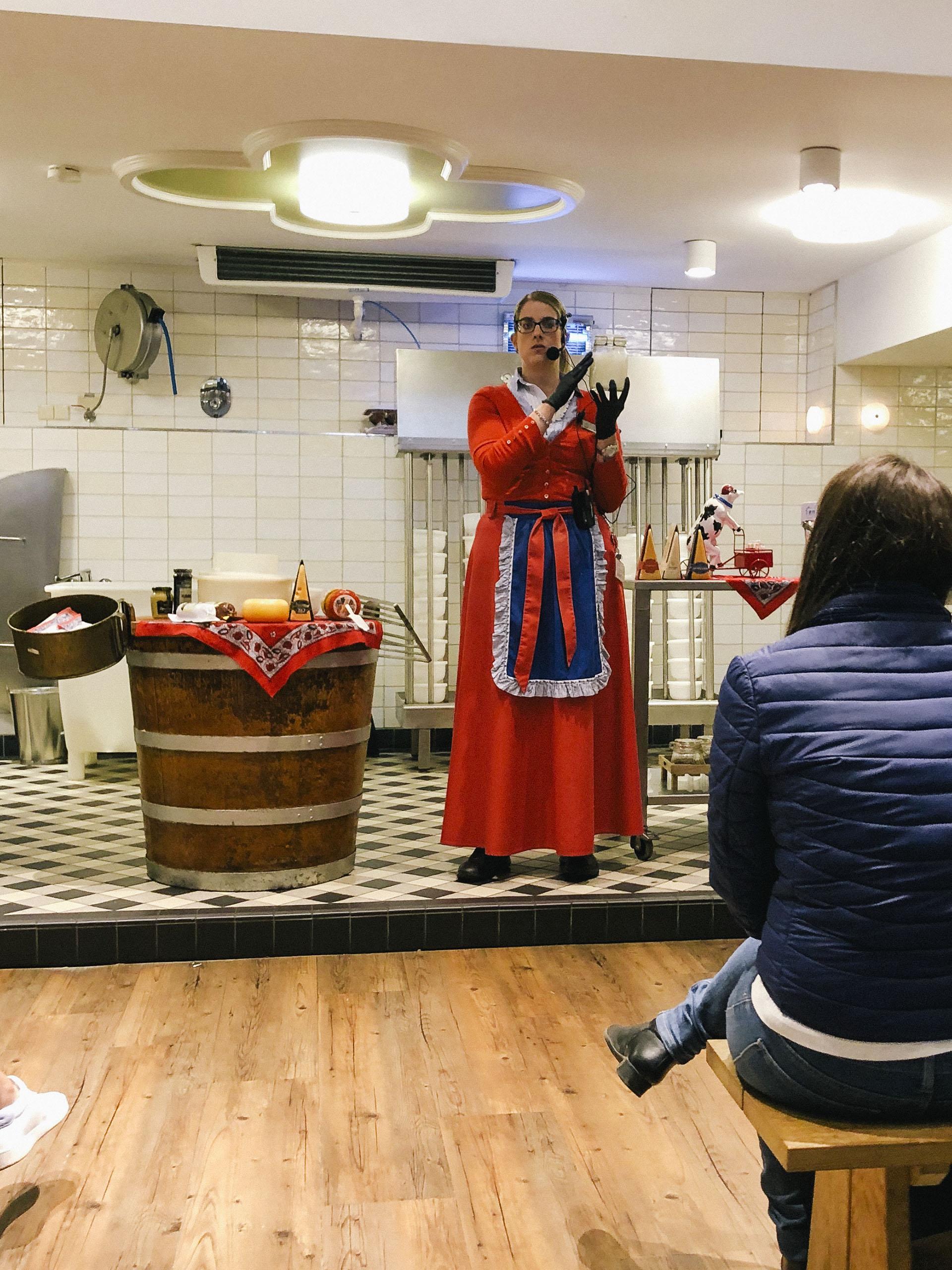 Dutch cheese making at Volendam