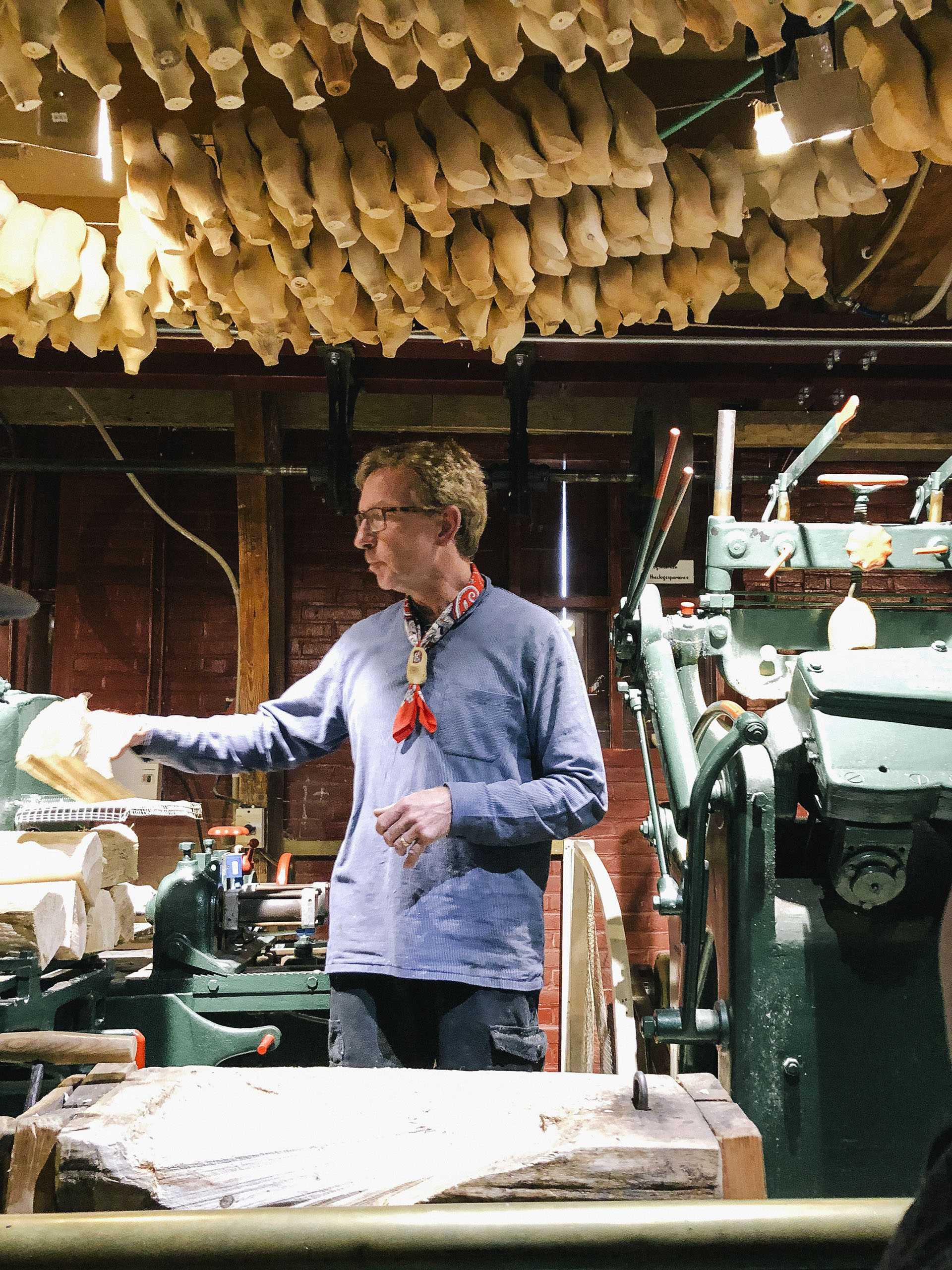 Wooden clog making at Marken