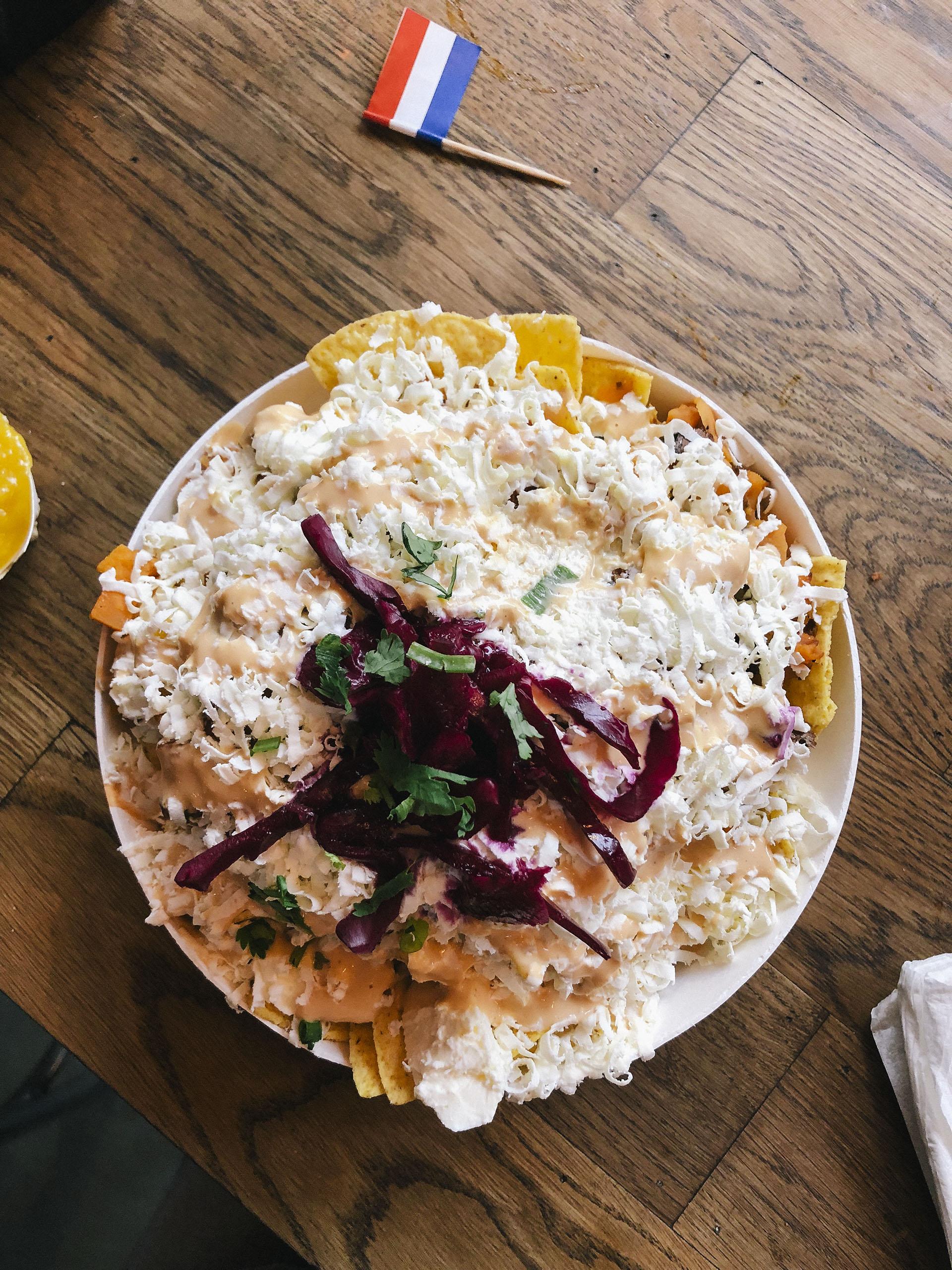 Sweet potato nachos at Foodhallen