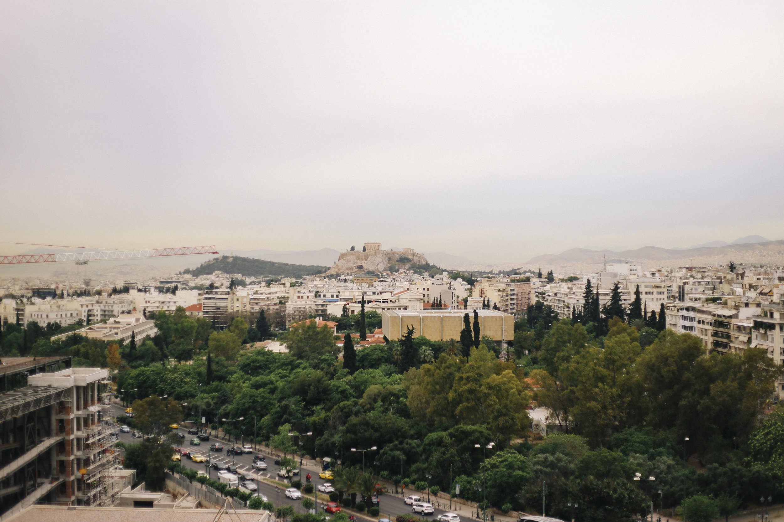 Athens (view from our hotel)