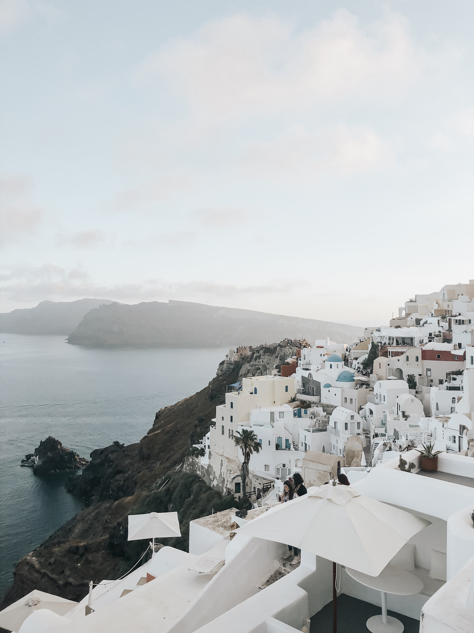 our first night in Oia