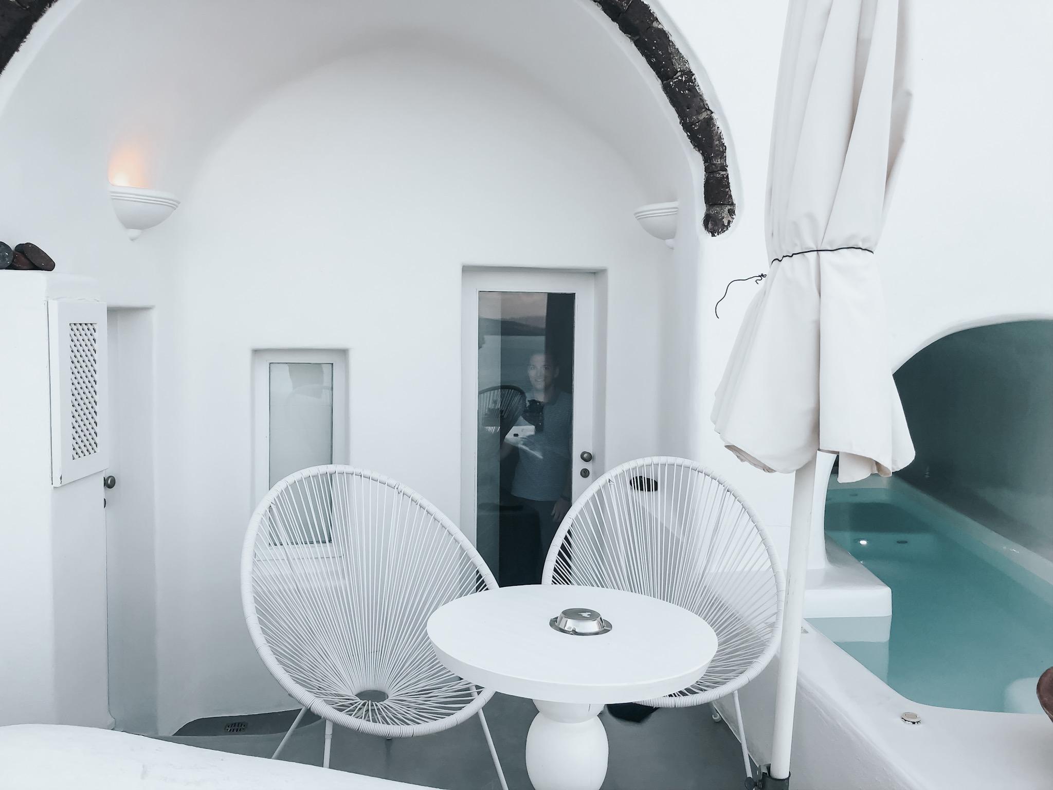 our Santorini airbnb