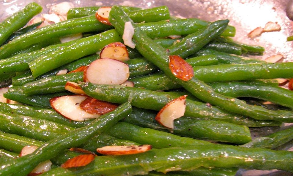 String Beans With Toasted Almonds