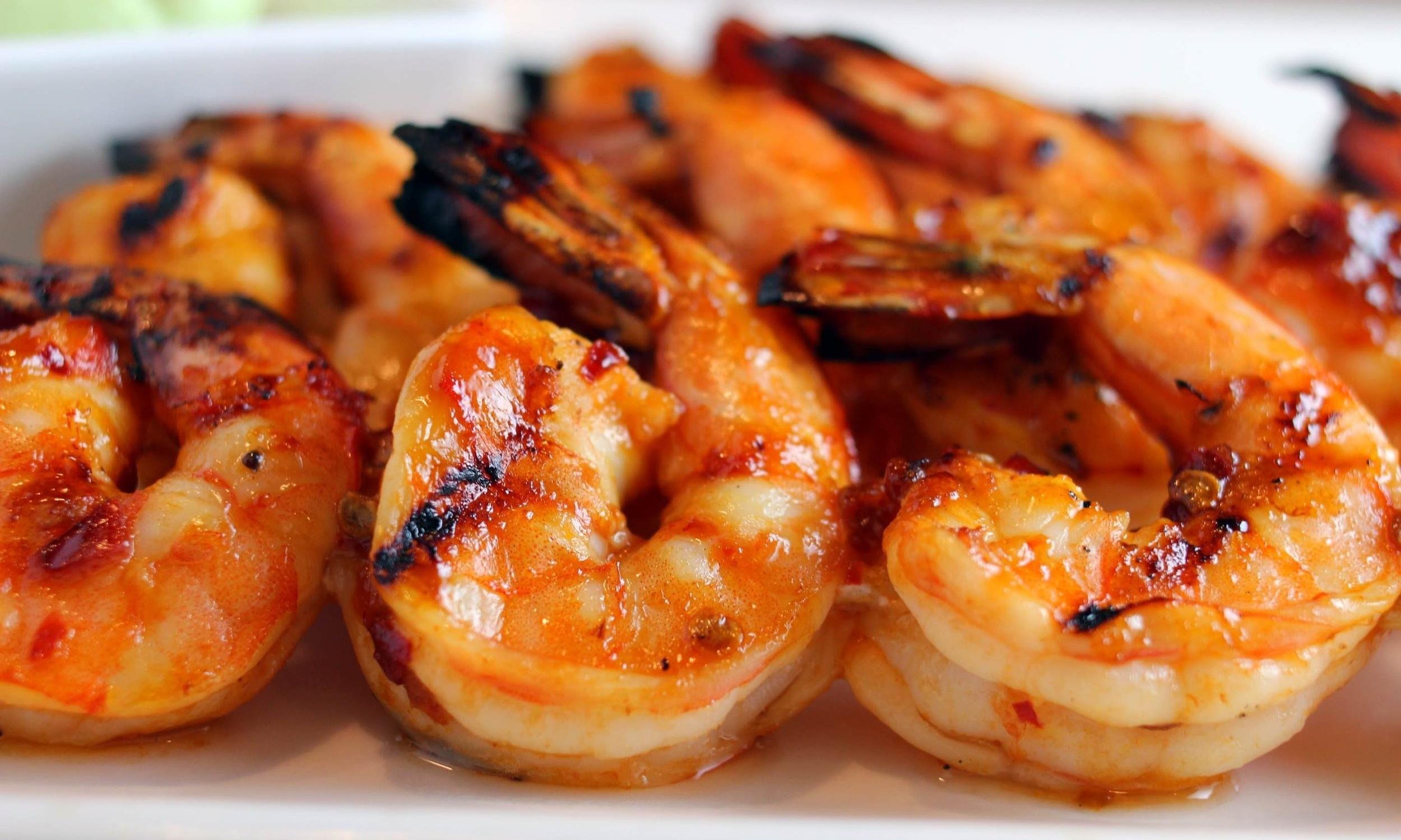 grilled bbq jumbo shrimp