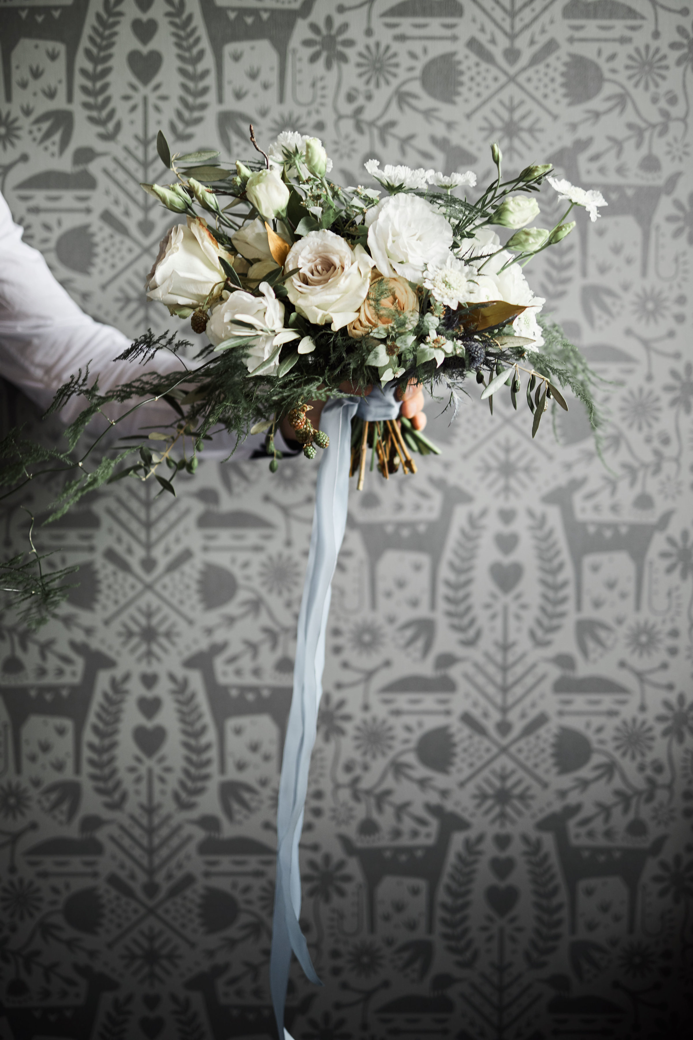 Nordic inspired bridal bouquet