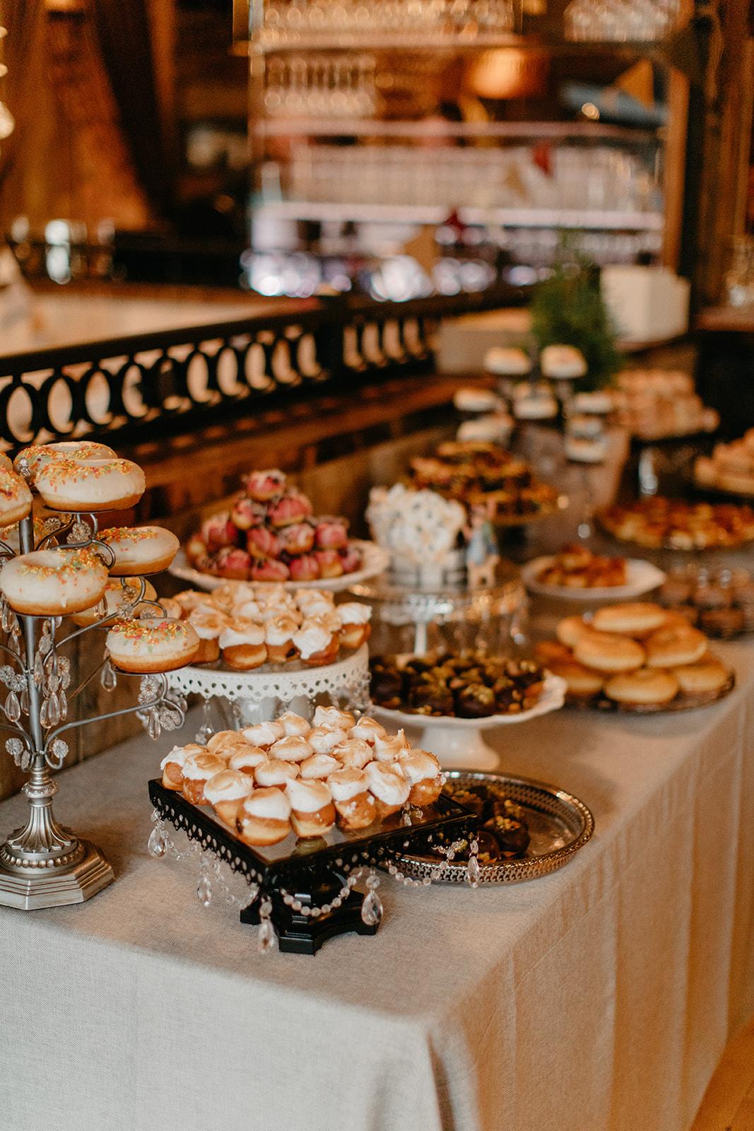 donut wedding dessert table