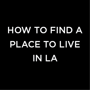 find a place to live