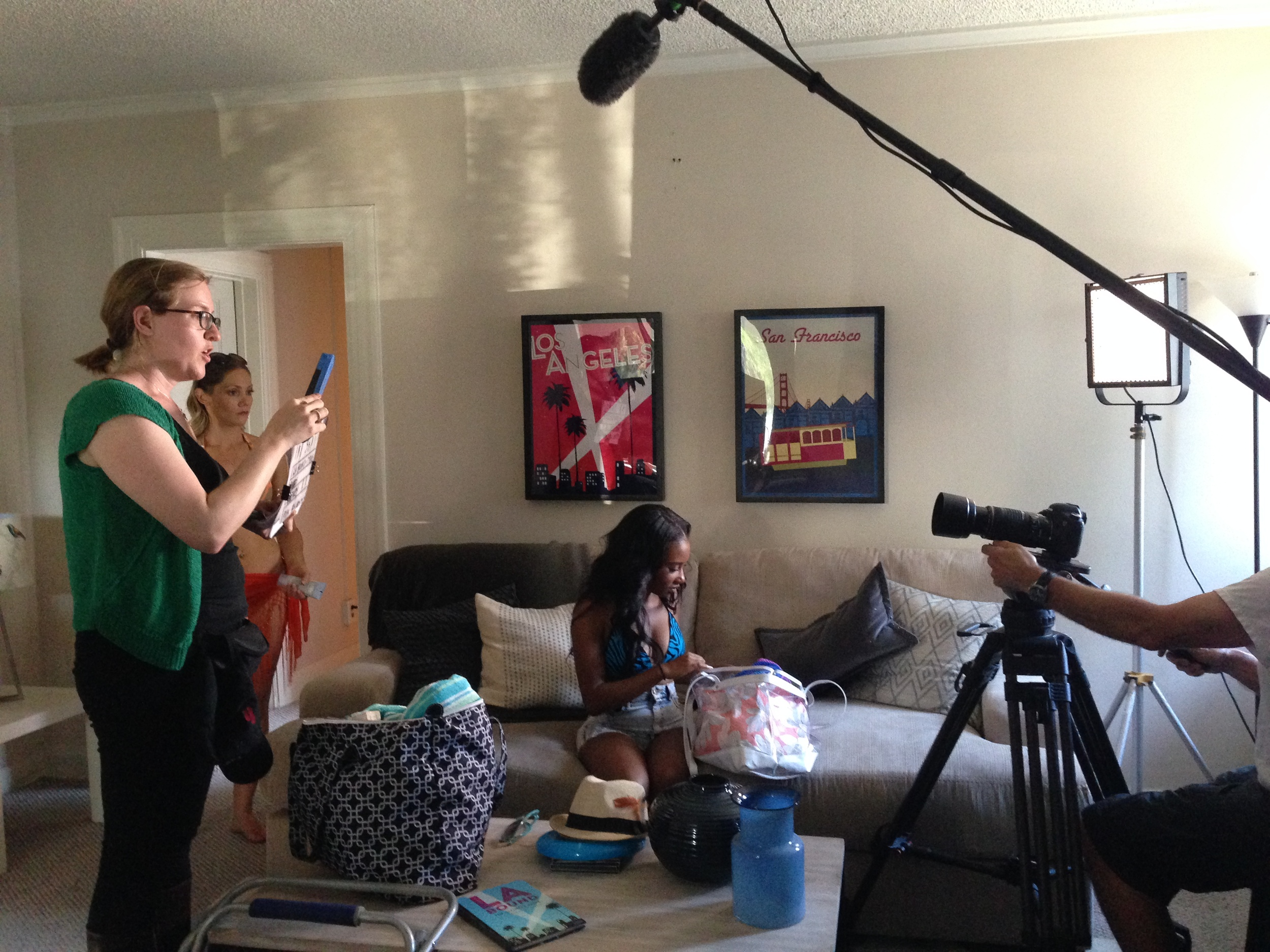Filming our short for LA Bound...