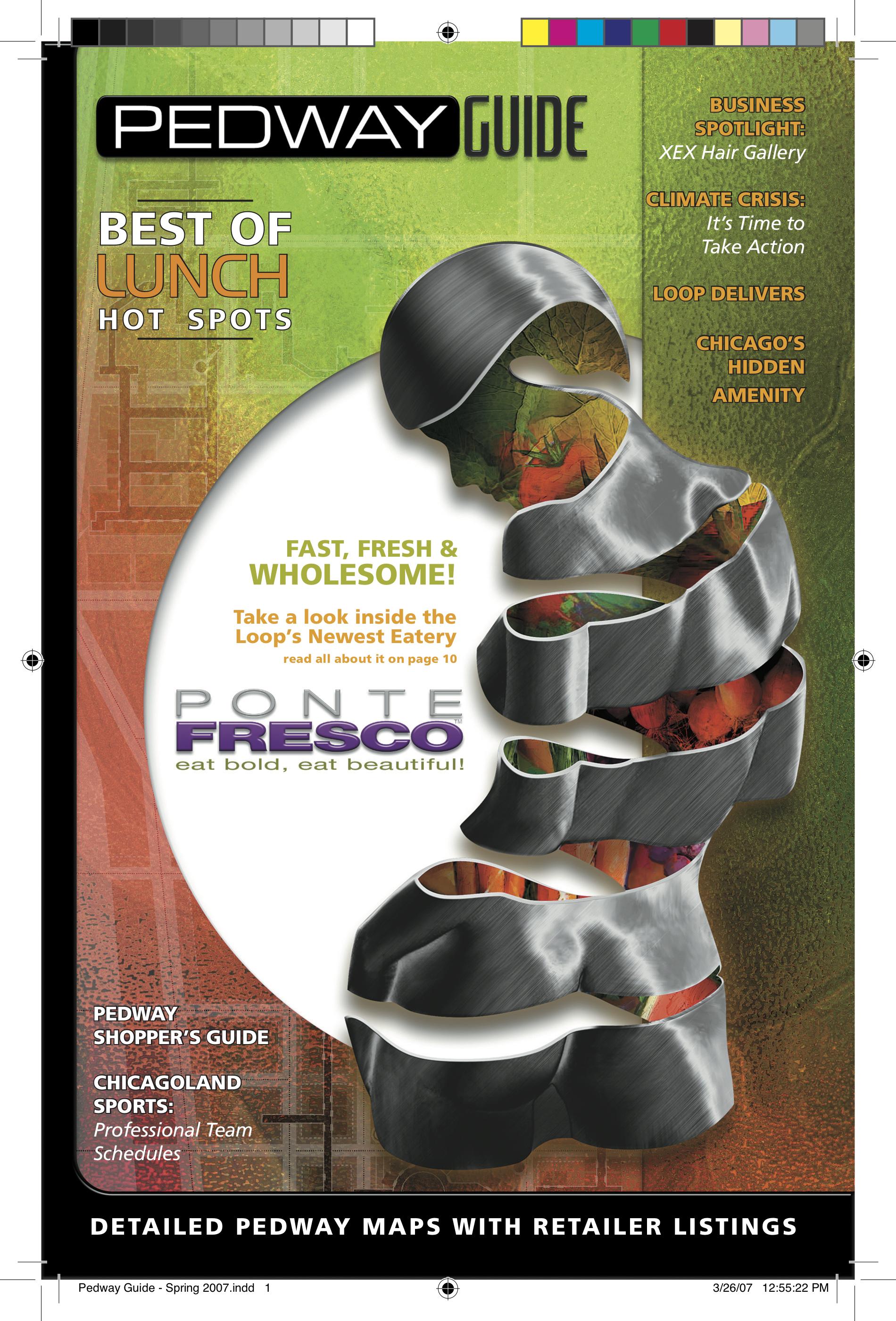 Click Pedway Guid below for PDF of Ponte Fresco coverstory
