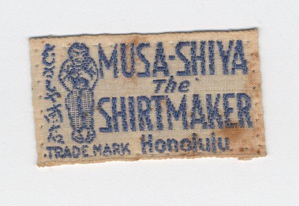 An original Musa-Shiya The Shirtmaker label