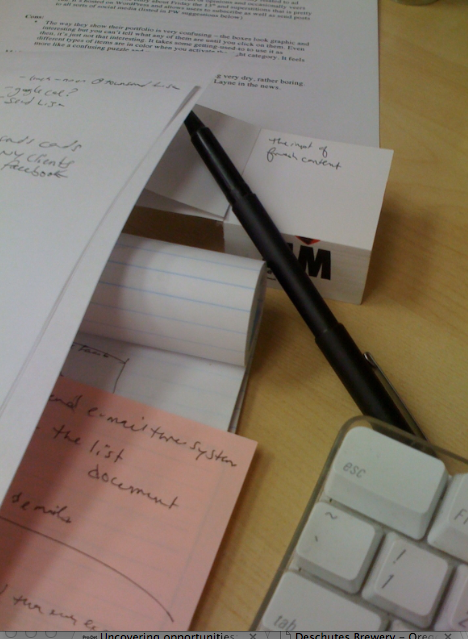 Writing as a journalist, a social media professional or PR pro generally requires lists, notes and more notes abound.