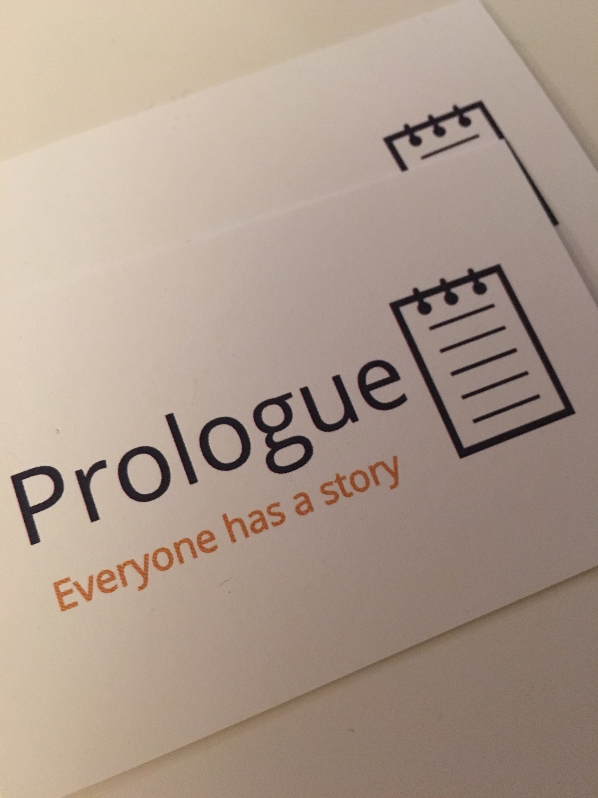 Meet Prologue. What's your story?