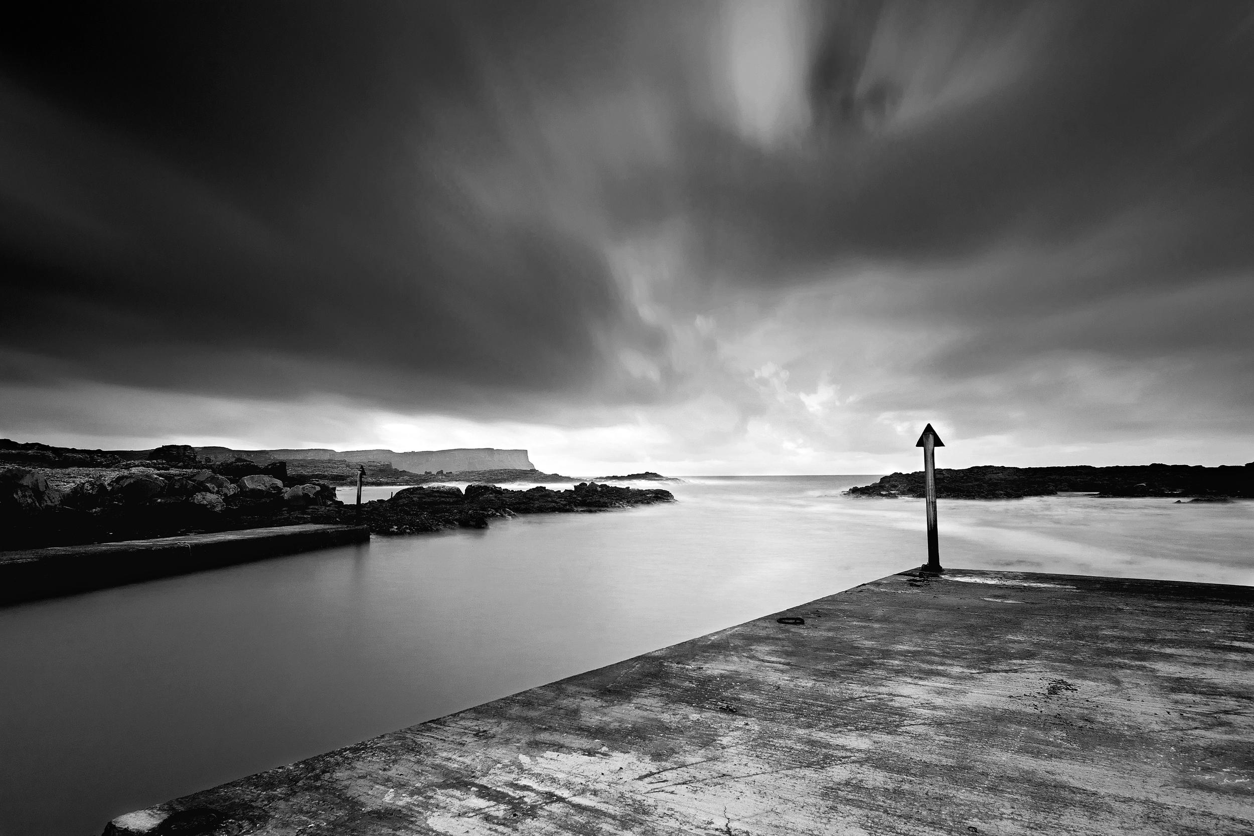 Dunseverick Harbour-B&W-Edit.jpg