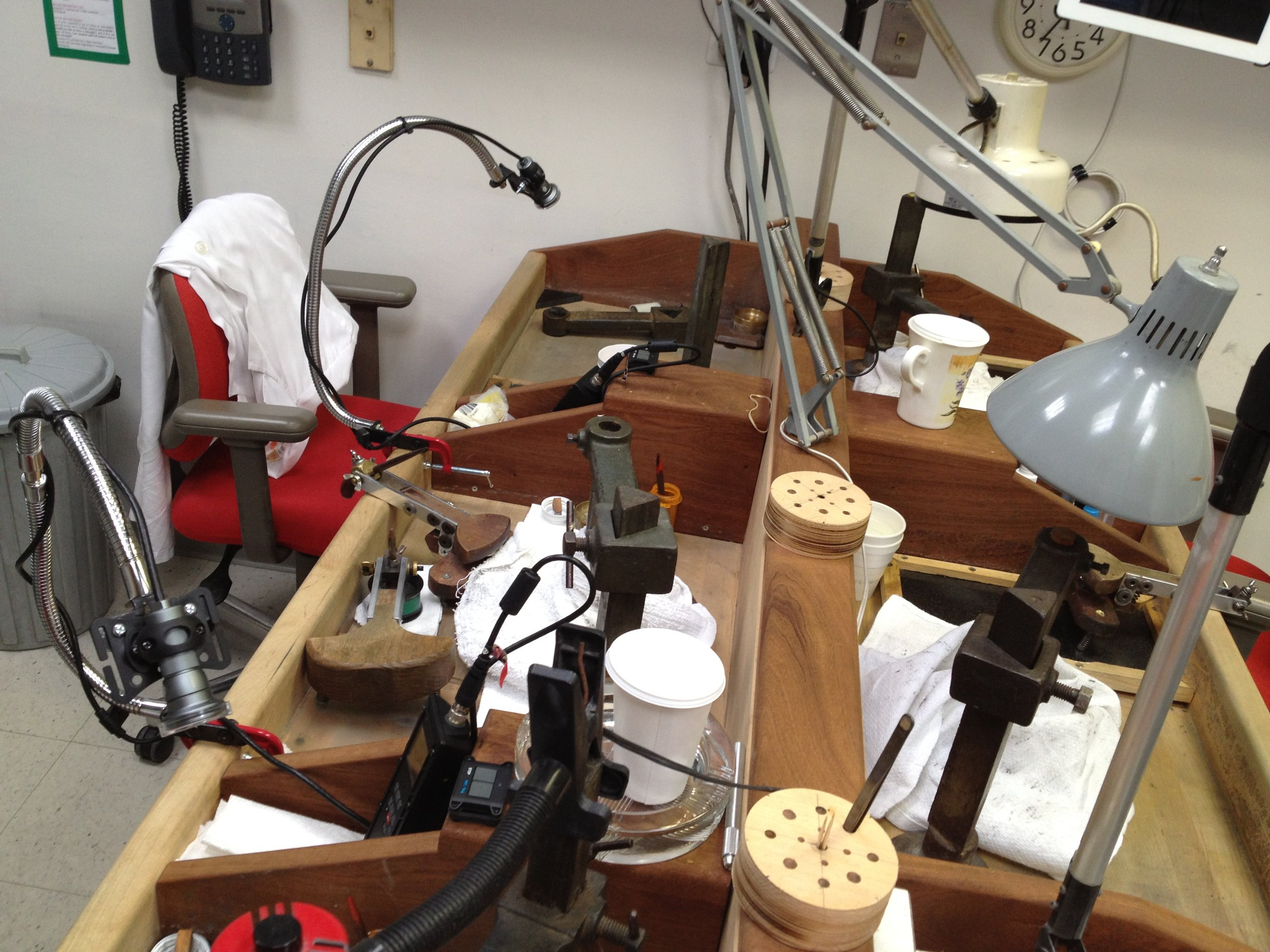 Established 1946, the Reginald C. Miller lapidary where Cushion Gems' remote controlled gooseneck clamp cameras recorded the transformation of many of the great gems of the 21st century.
