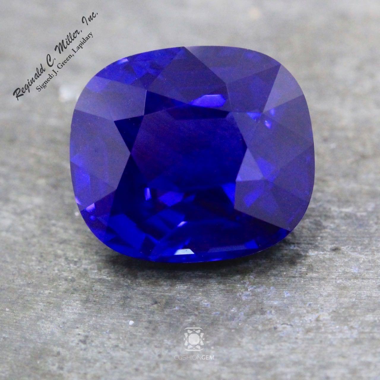 4.90 Kashmir Cushion Sapphire