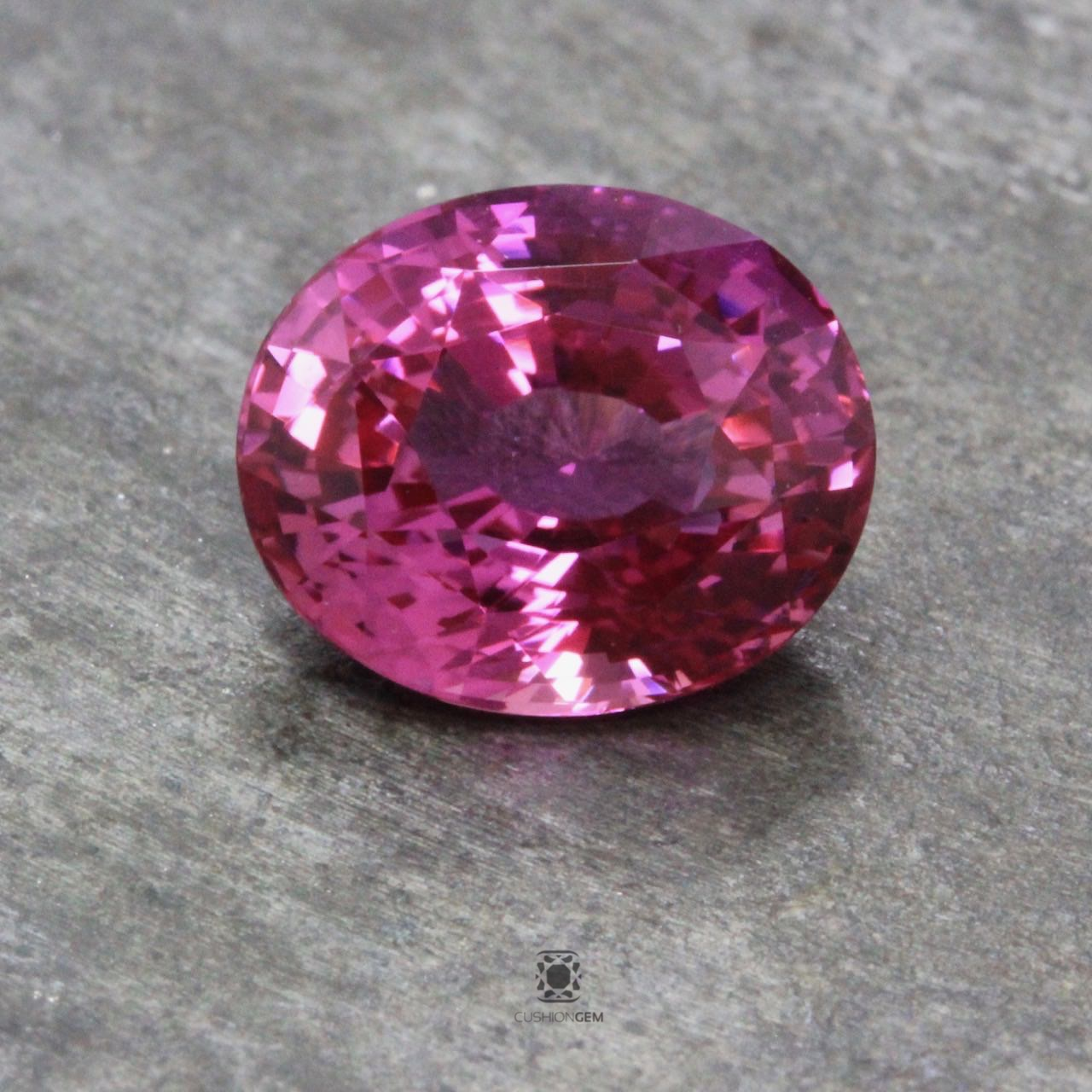 3.57 Oval Un-heated Pink Sapphire