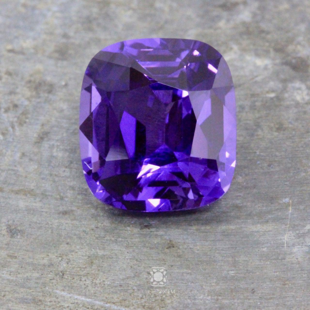 5.40 Cushion Un-heated Purple Sapphire