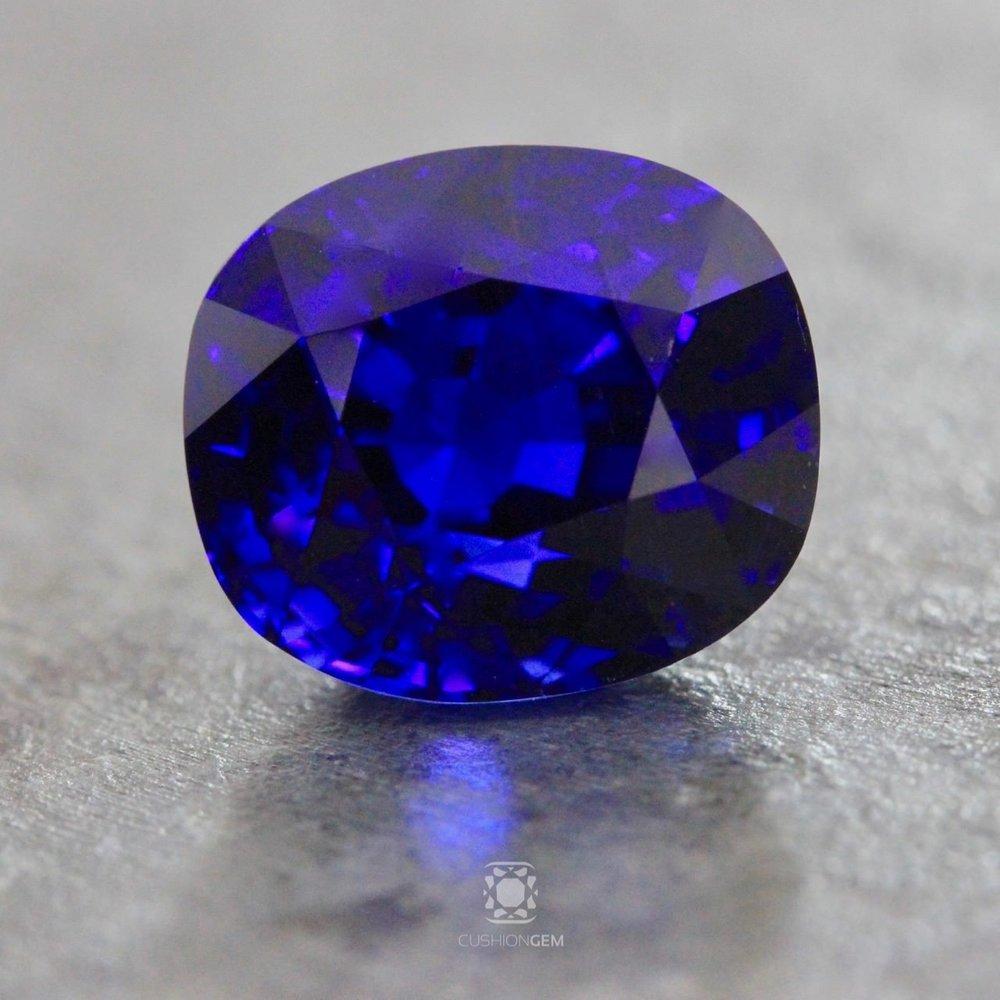 5.23 Cushion Un-heated Sapphire