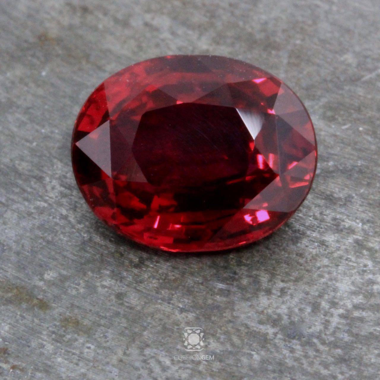 4.00 Oval Un-heated Ruby