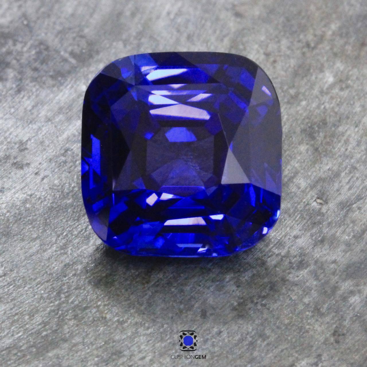 8.92 Cushion Un-heated Sapphire