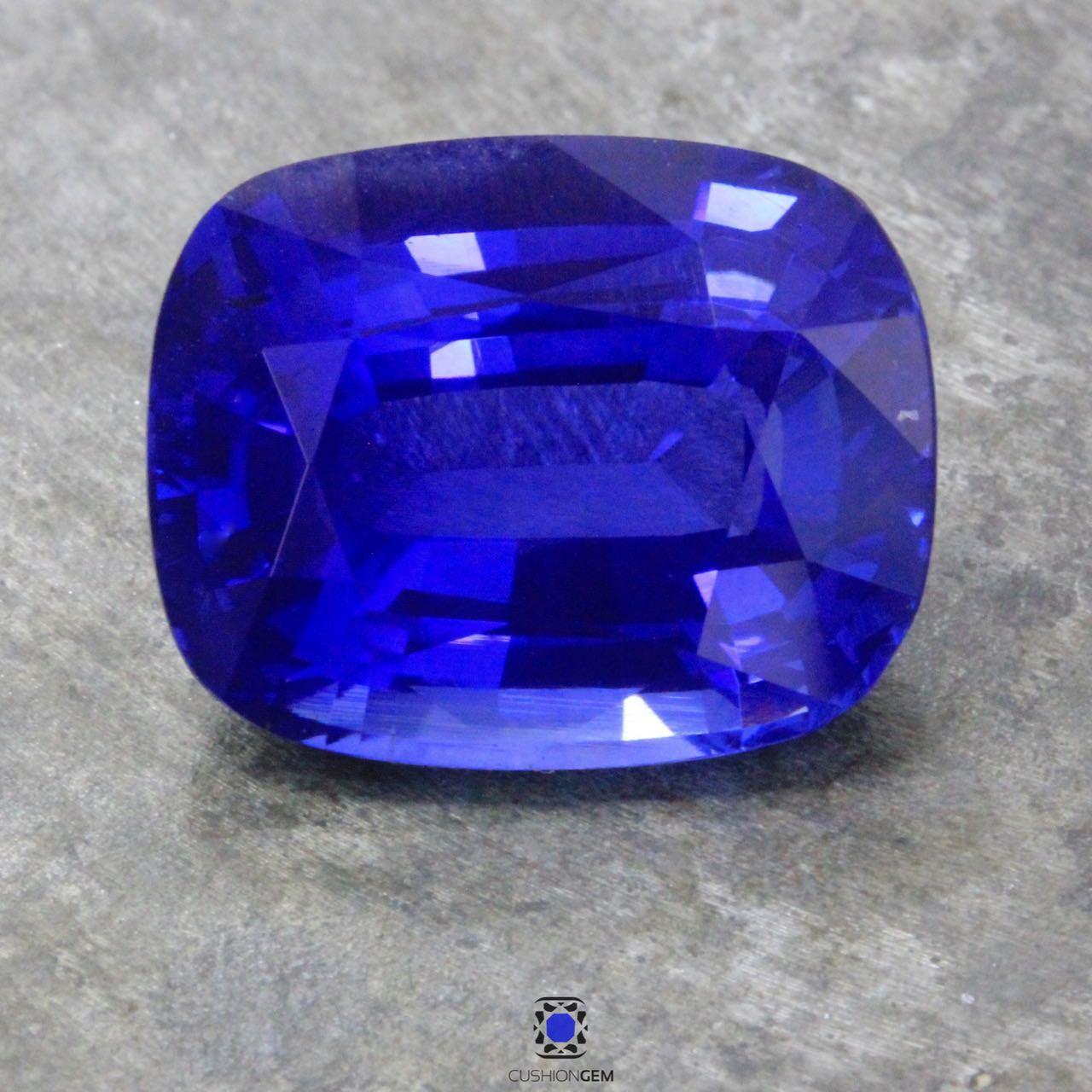 19.16 Cushion Un-heated Sapphire