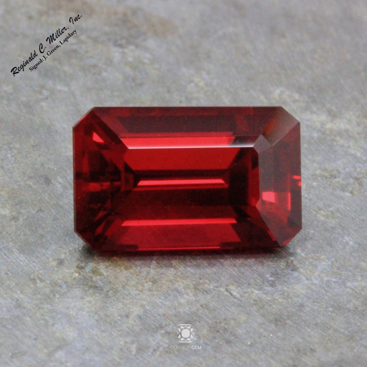 5.56 Emerald Cut Mozambique Ruby