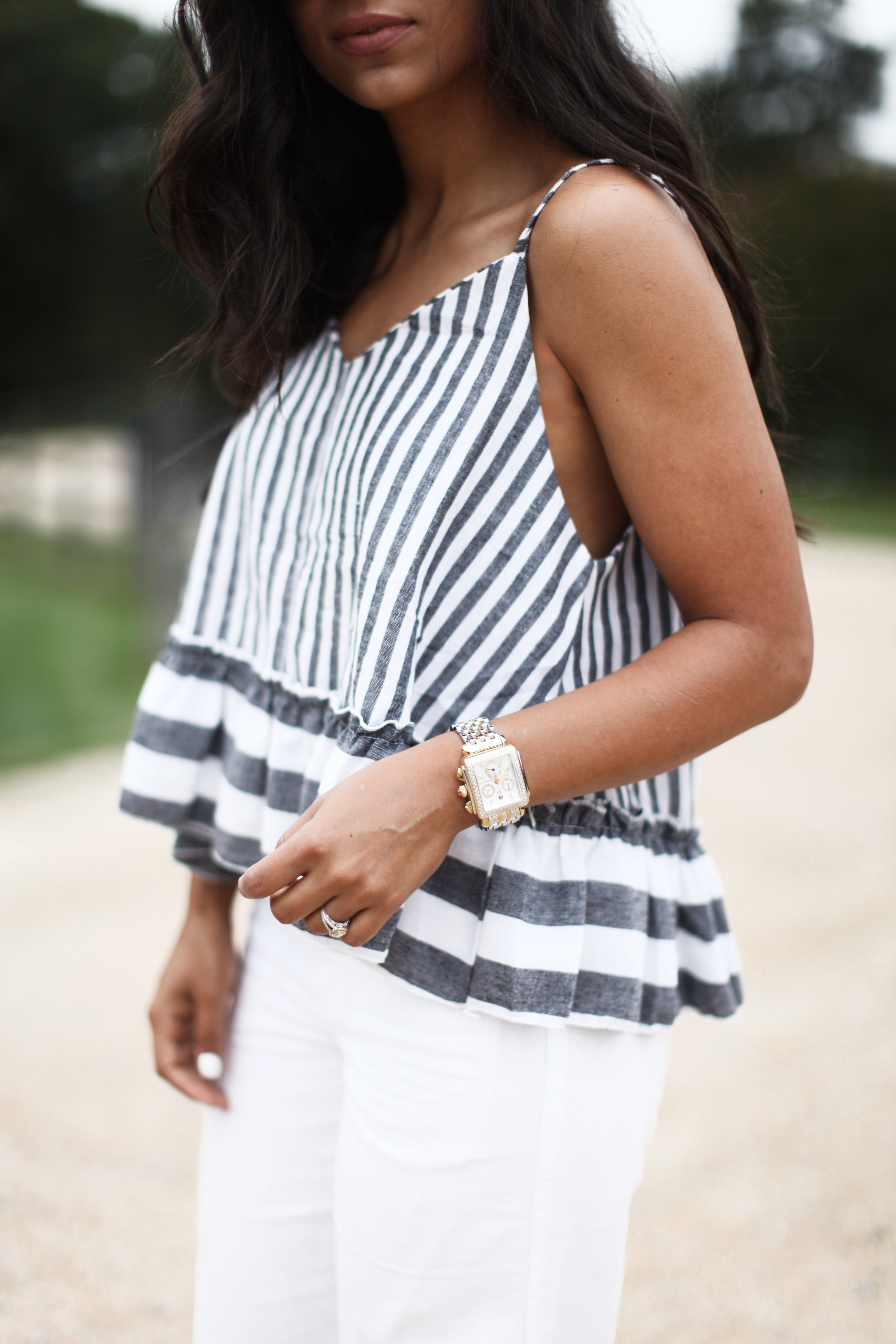 PEPLUM STRIPES - How cute is this top? It's everything a top should be: flowy, striped and ruffled! Shop Peplum Here I plan on wearing this top in transition to Fall layering it with a duster or a long sleeve underneath. My favorite thing about it other than its aesthetics is the price! I absolutely love partnering up with SheIn specifically because of their affordability. As much as I love clothes, I don't want my entire wallet to be spent on clothes! & They always have ahhhmazing sales!