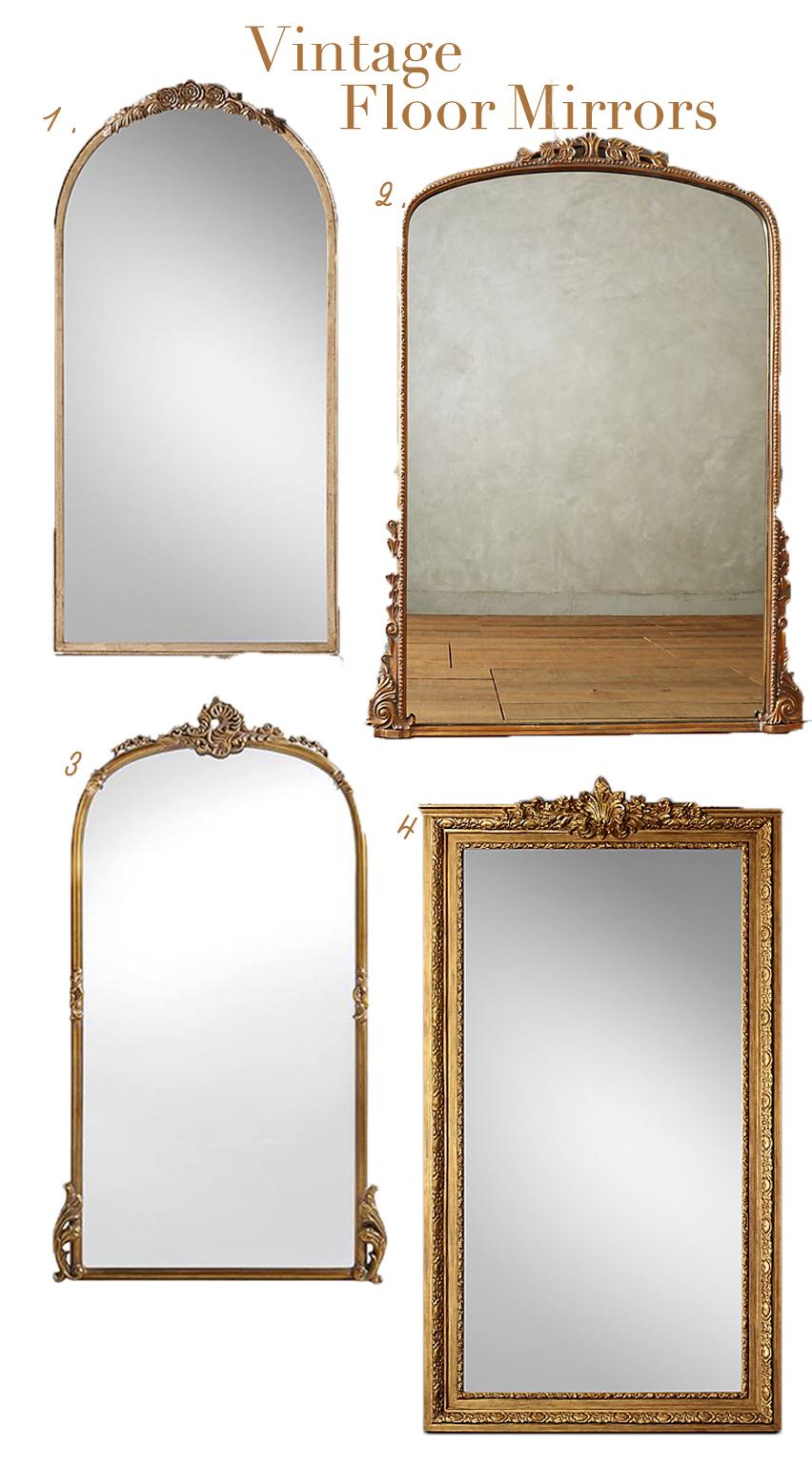 Vintage Floor Length Mirrors Nioby Trivett