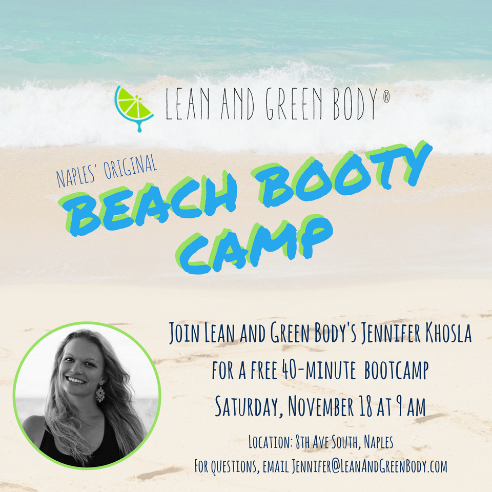 Beach Booty Camp | Lean and Green Body Blog